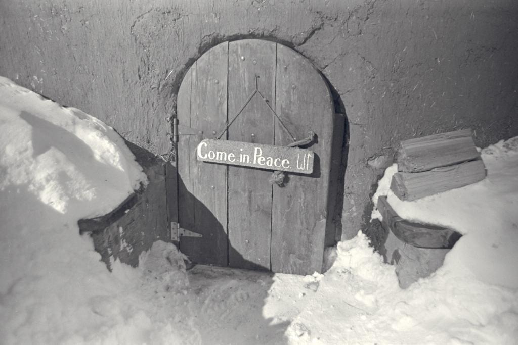 Prayer Room Door in Snow