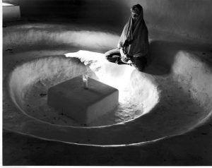 Asha Greer meditating in the prayer room