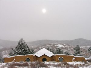 lama foundation winter snow