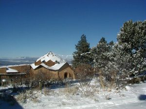lama foundation dome in snow