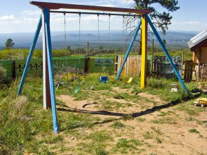 lama foundation swing set