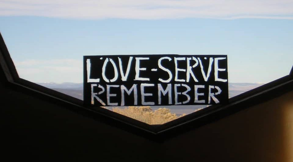 sign with Love Serve Remember