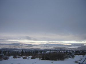 lama foundation San Luis valley covered in snow