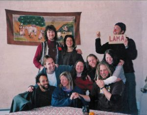 group of lama foundation residents
